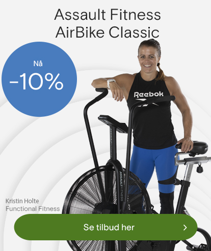 Kristin Holte med Assault Fitness airBike